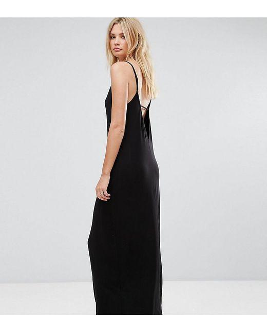 ASOS | Black Maxi Dress With V Back | Lyst