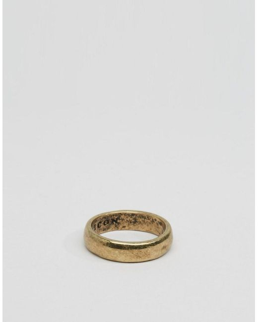 Icon Brand | Metallic Band Ring In Gold for Men | Lyst