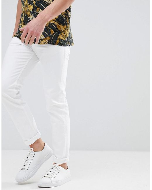BOSS - Boss Tapered Fit Fit White Jeans for Men - Lyst