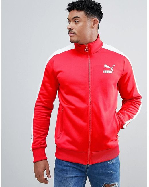 e62d6240b5fe ... PUMA - Archive T7 Track Jacket In Red 57265882 for Men - Lyst .