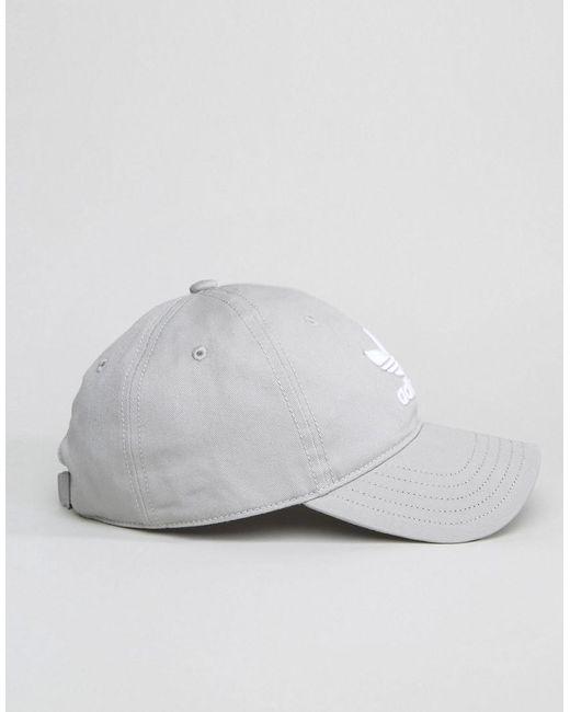 Trefoil Cap In Grey BK7282 - Grey adidas Originals NrpmkGb7s2