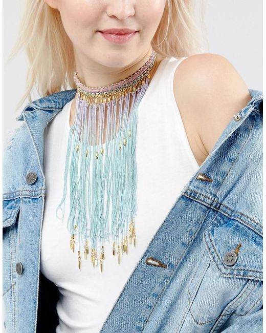 ASOS   Blue Mermaid Ombre Choker Necklace   Lyst