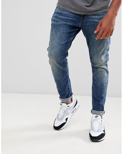 b24ad949670e G-Star RAW D-staq 3d Distressed Skinny Jeans Medium Aged in Blue for ...