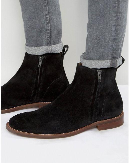ALDO   Black Bilissi Suede Chelsea Boots for Men   Lyst