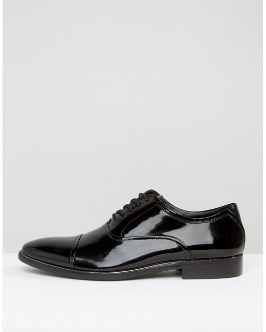 aldo gaville patent leather oxford shoes in black for