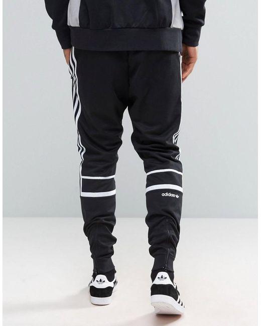adidas originals clr84 slim joggers in black bk5929 in. Black Bedroom Furniture Sets. Home Design Ideas