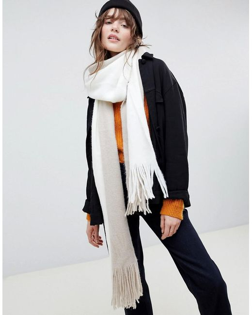 ASOS - Multicolor Long Tassel Super Soft Knit Scarf In Colour Block - Lyst