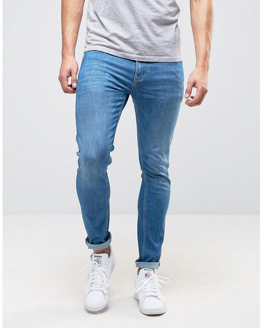 Pepe Jeans | Blue Pepe Nickel Powerflex Skinny Jeans Stone Wash for Men | Lyst