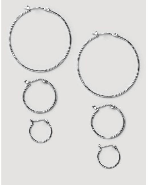 Pieces | Metallic Belinda Hoop Multipack Earrings | Lyst