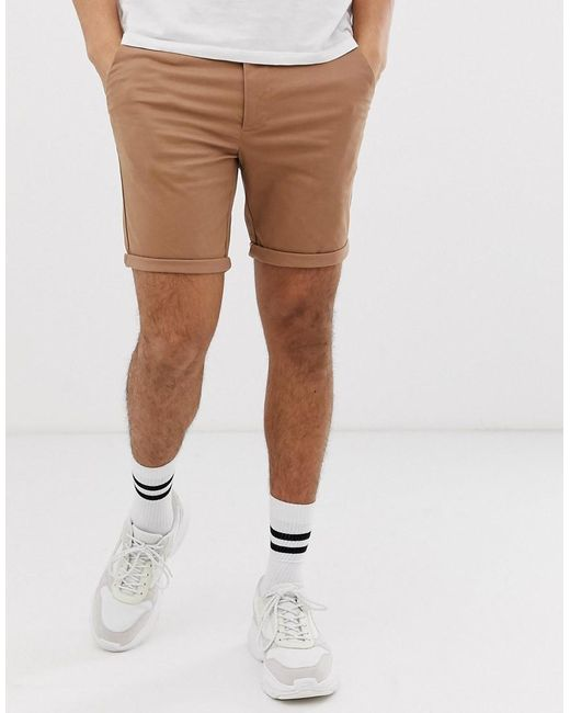 e9445f1df6 River Island - Brown Shorts In Tan for Men - Lyst ...