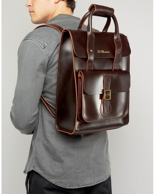 Dr Martens Leather Backpack In Brown For Men Lyst