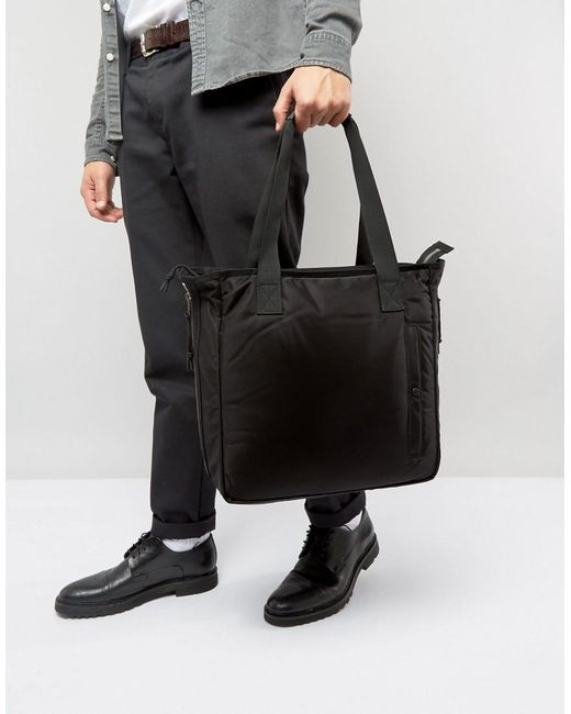 Allsaints Nylon Tote Bag in Black for Men | Lyst