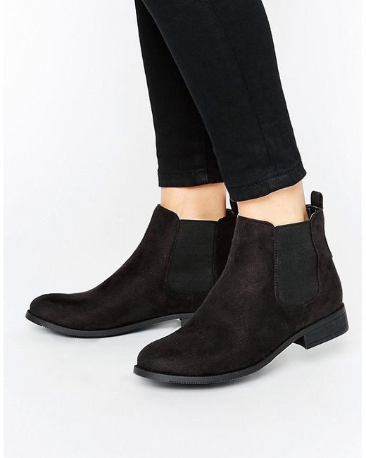 park flat chelsea boots in black lyst