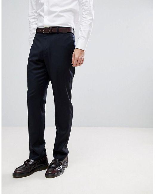 ASOS - Blue Asos Wedding Slim Suit Pants In Navy Cashmere Blend for Men - Lyst