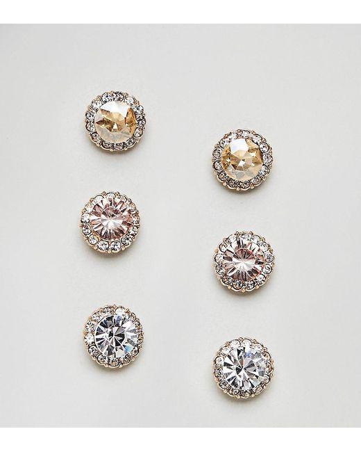 ALDO - Pink Multipack Jewel Tone Stud Earrings - Lyst