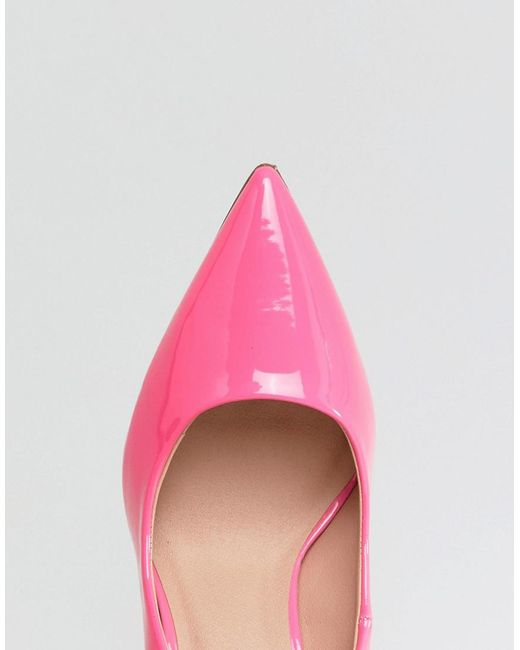Patent Pointed High Court Shoe - Pink New Look Zftkqqr