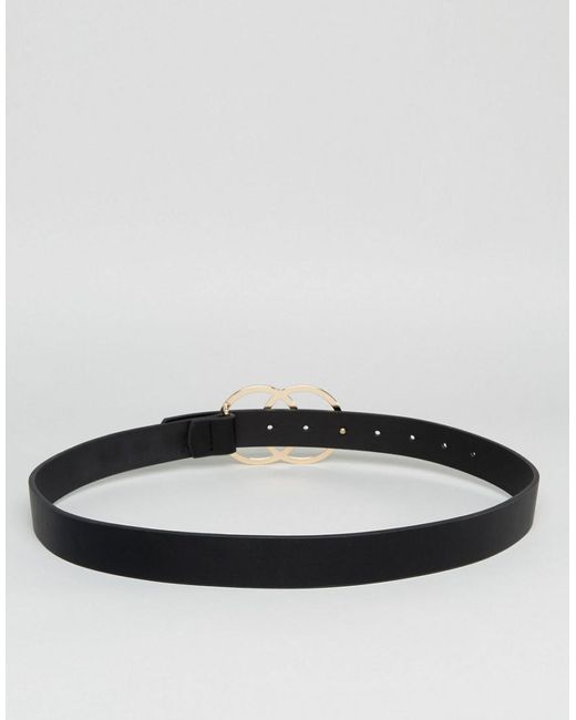 Circle Swirl Buckle Waist & Hip Belt - Black Asos Curve I9vIG