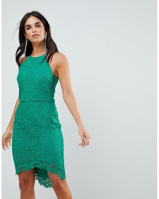 Adelyn Rae - Green Louise Fishtail Sheath Lace Dress - Lyst