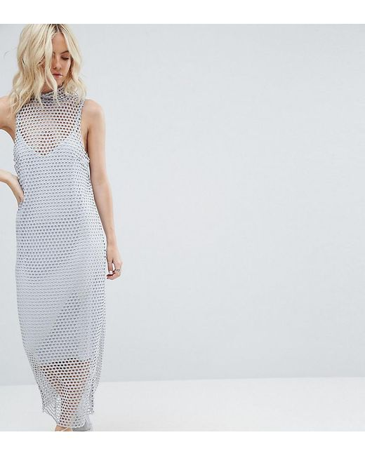 ASOS | Multicolor 2 In 1 Maxi Dress In Large Mesh | Lyst