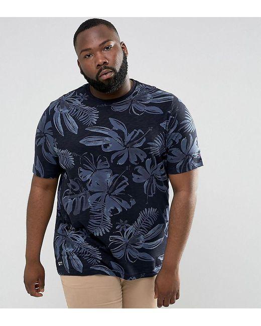 Tommy Hilfiger   Blue Plus Igy T-shirt Flower Print Regular Fit In Navy for Men   Lyst
