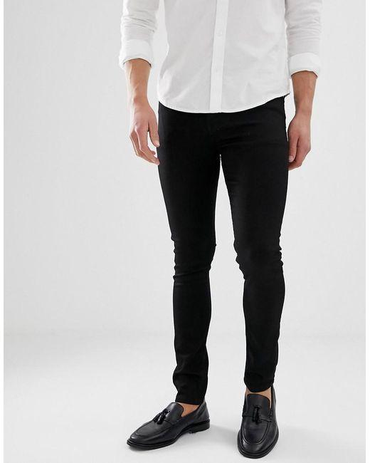 0ea33fe69d9f ASOS Super Skinny Jeans In Black in Black for Men - Lyst