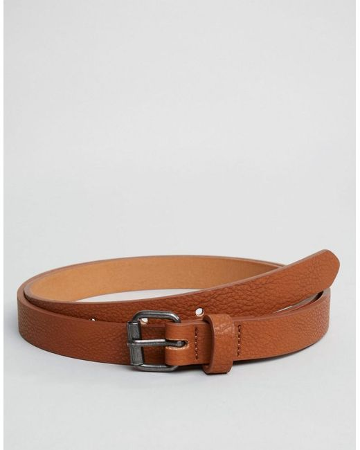 ASOS | Brown Super Skinny Belt In Tan for Men | Lyst