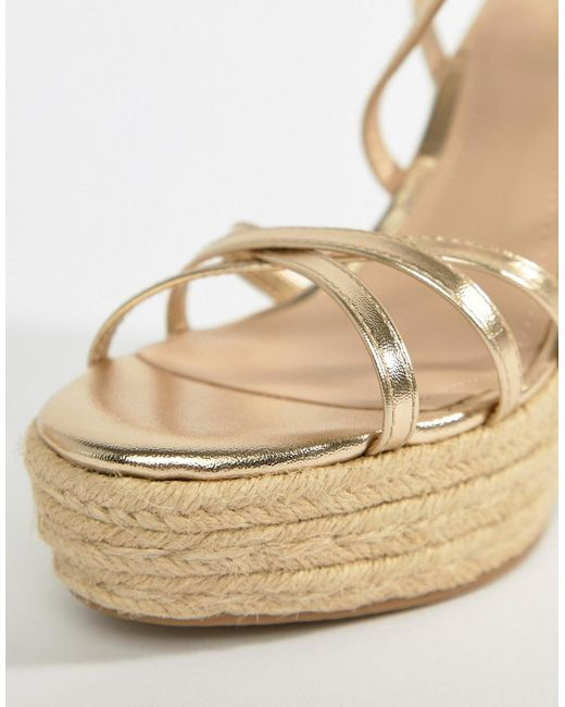 Mango strappy espadrille wedge in gold discount shop for outlet fake cheap sale 2014 fast delivery sale online nHbzdlkfZ
