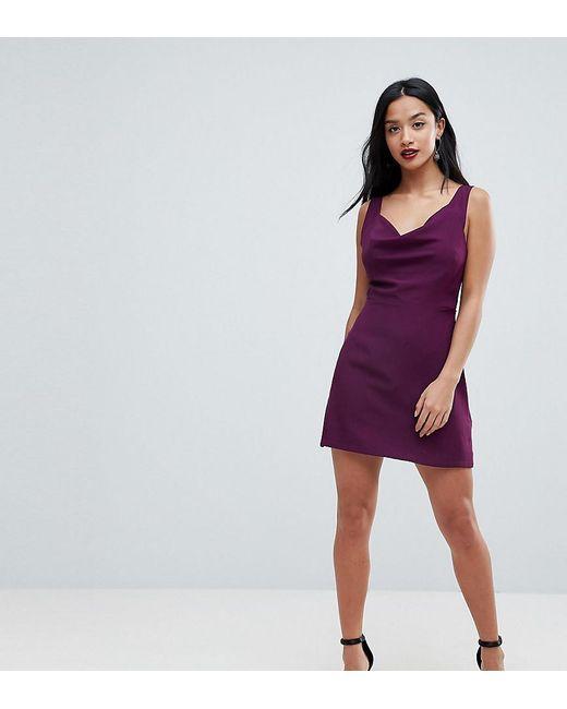ASOS - Red Cowl Neck Mini Dress - Lyst