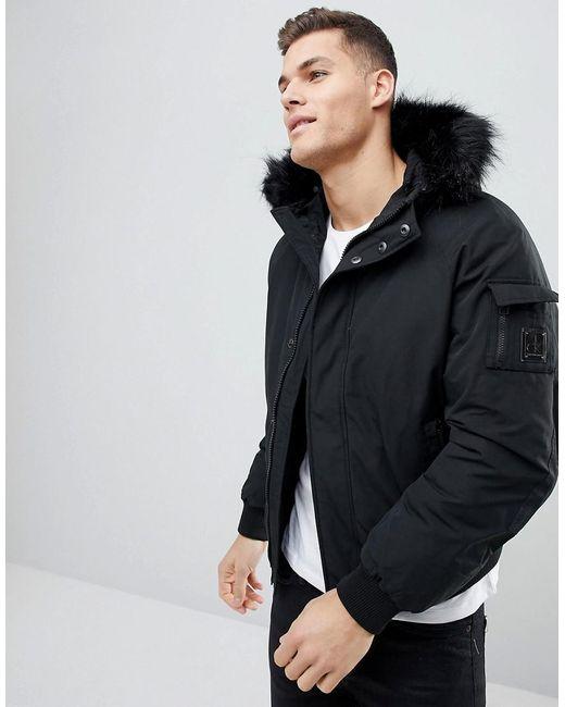 Calvin Klein - Black Padded Bomber Jacket for Men - Lyst
