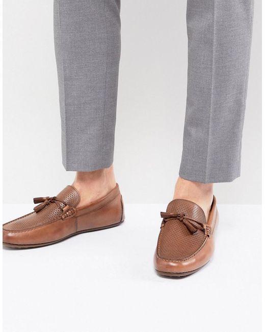 ALDO - Brown Freinia Leather Tassel Loafers for Men - Lyst