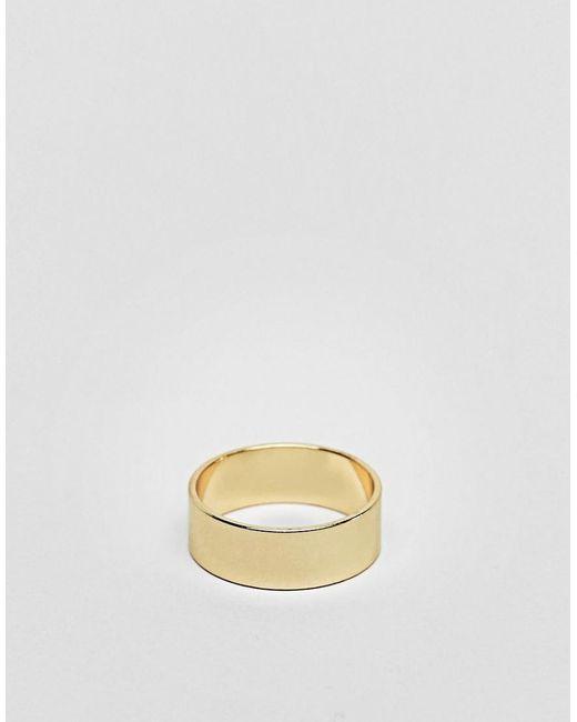 ASOS - Metallic Ring In Gold Tone for Men - Lyst