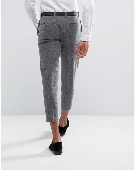Skinny Smart Salt N Pepper Trousers - Black Selected fviDcTs