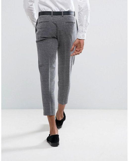 Skinny Smart Salt N Pepper Trousers - Black Selected aqqwa8SJTC