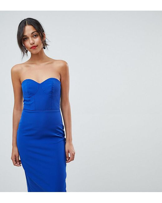 c1c7ba4cfc8 Oasis - Blue Halter Neck Tuelle Pencil Dress With Detachable Straps - Lyst  ...