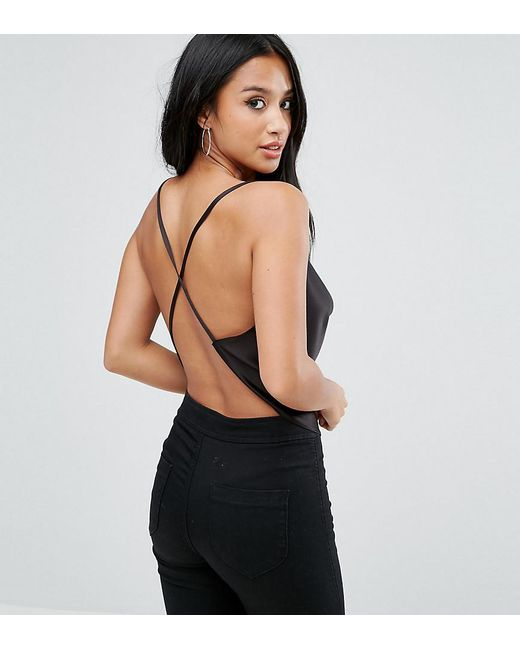 ASOS | Black Backless Cowl Neck Top | Lyst