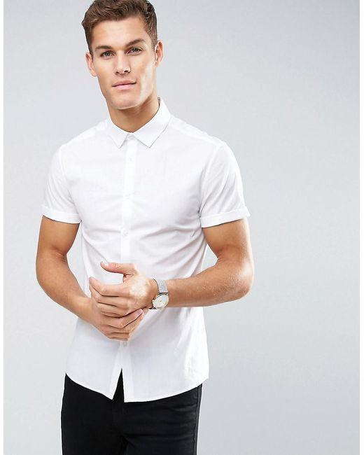 ASOS | Skinny Shirt In White for Men | Lyst