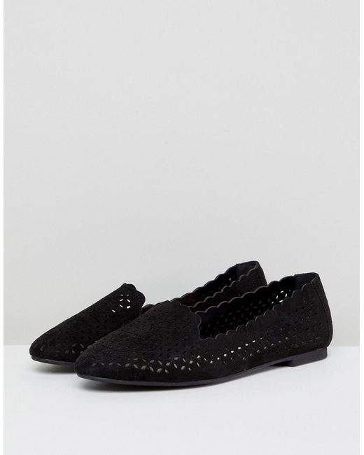 Foi Lasercut Chaussures Plates - Noir T96ov054