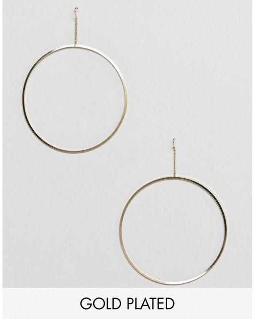 Pilgrim - Metallic Gold Plated Large Hoop Earrings - Lyst