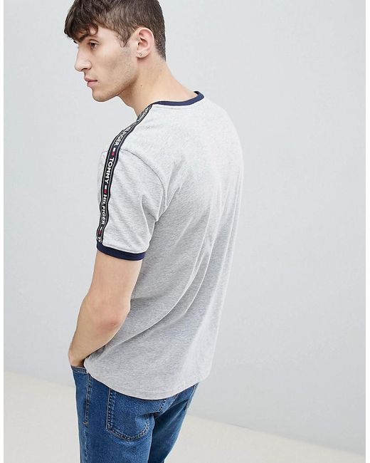 45e2e29d ... Tommy Hilfiger - Gray Authentic T-shirt Side Logo Taping In Grey Marl  for Men