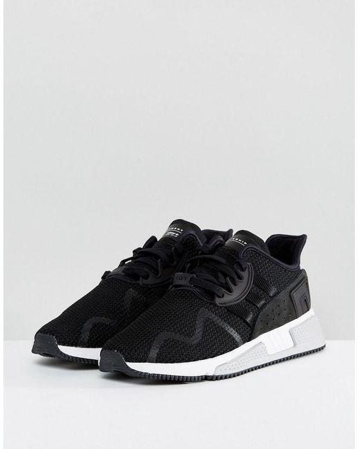 adidas originali eqt cuscino avanzata scarpe in nero by9506 in nero