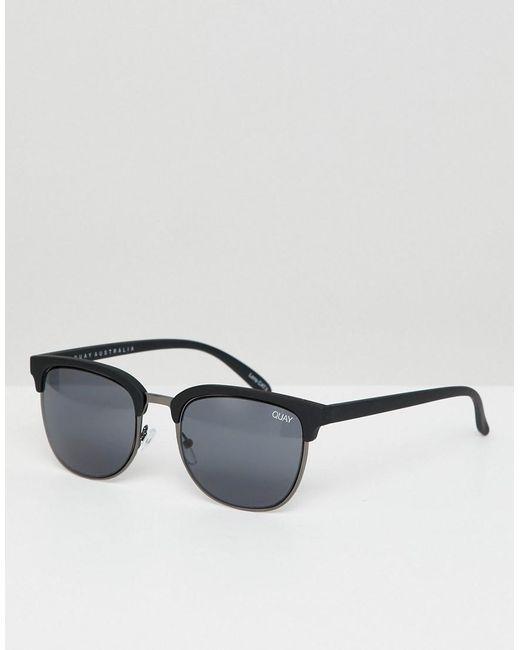 Quay - Black Retro Flint Sunglasses - Lyst