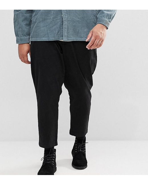 Only & Sons - Black Plus Cropped Chinos for Men - Lyst