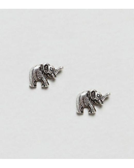 Kingsley Ryan Metallic Sterling Silver Elephant Stud Earrings Lyst