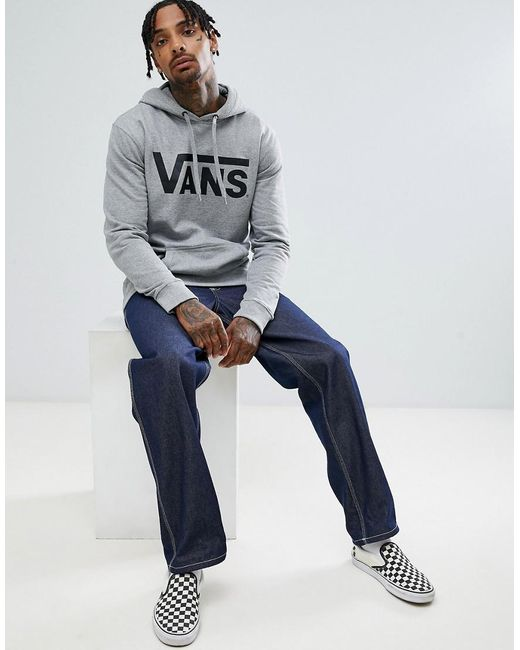 Vans - Gray Classic Pullover Hoodie In Grey V00j8nady for Men - Lyst