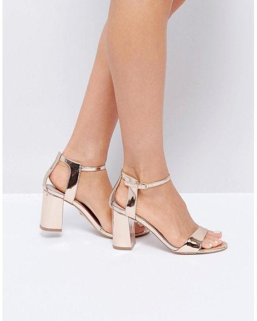 Carvela Kurt Geiger | Metallic Rose Gold Heeled Sandals | Lyst
