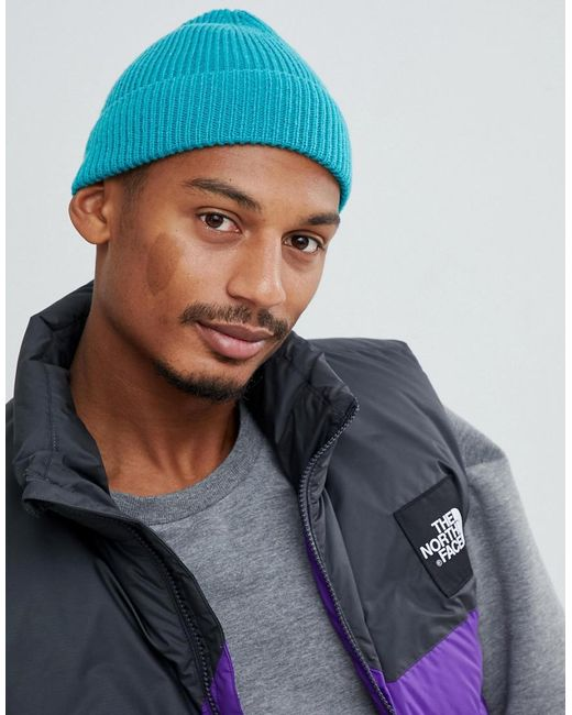 Lyst Asos Fisherman Beanie In Teal In Green For Men