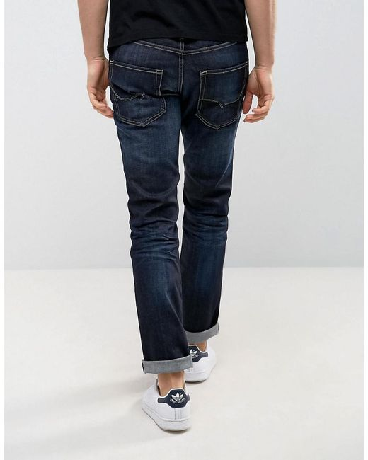 Intelligence Dark Wash Jeans in Regular Fit - Dark blue Jack & Jones bDvv8w