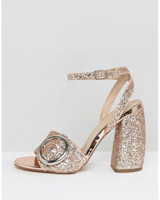 HICCUP Heeled Sandals - Multi glitter Asos CSGHq2