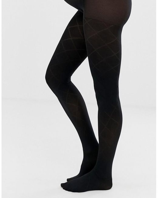 d216017e8 Lyst - Emma Jane Maternity Check Pattern Tights In Black in Black