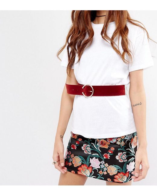 Glamorous | Red Pierce Buckle Waist Belt | Lyst
